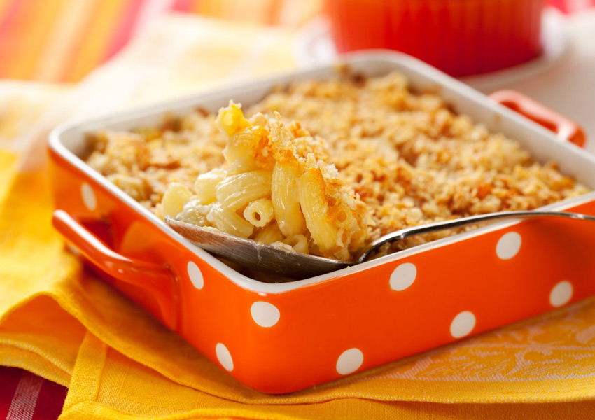 Bake-and-Slice Macaroni and Cheese
