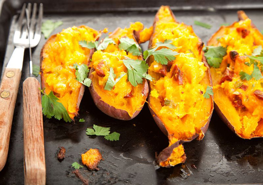 Chorizo-Stuffed Sweet Potatoes