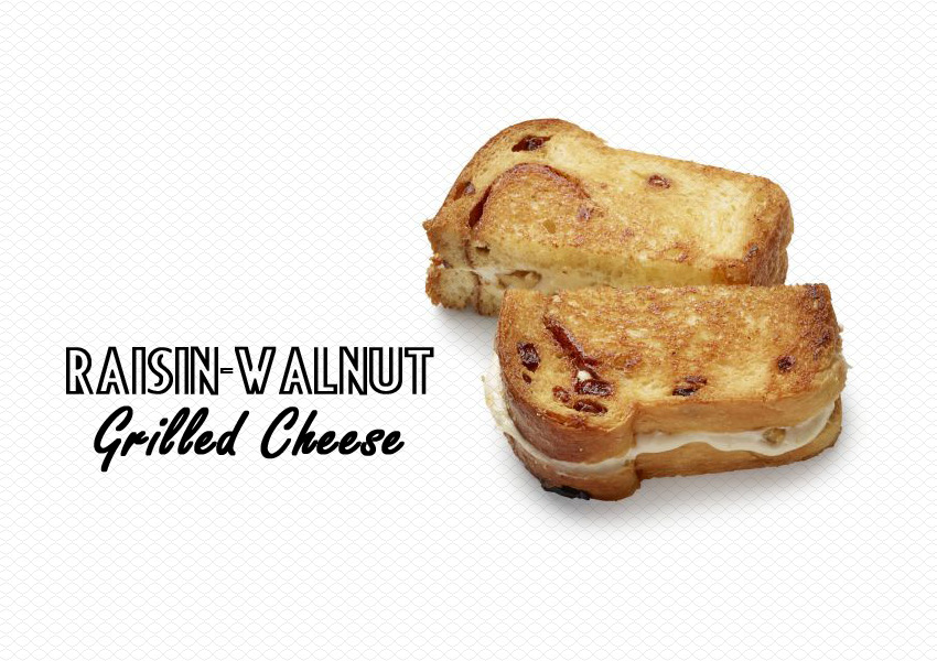 Raisin-Walnut Grilled Cheese