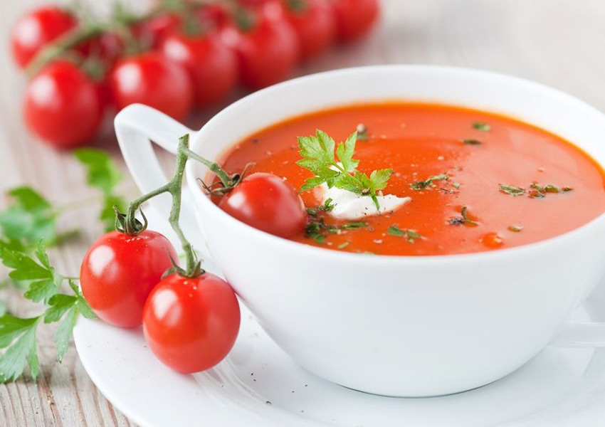 Tomato-Fennel Soup with Crab