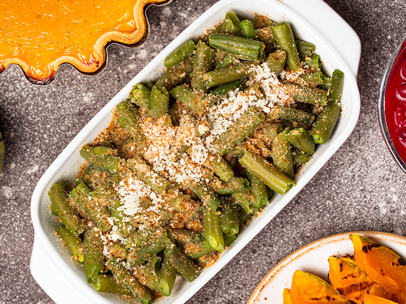 Air Fryer Thanksgiving Green Bean Casserole