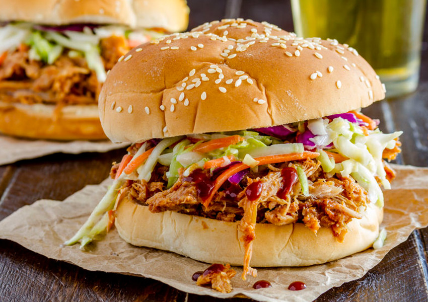Instant Pot Hawaiian Pulled Chicken Sandwiches