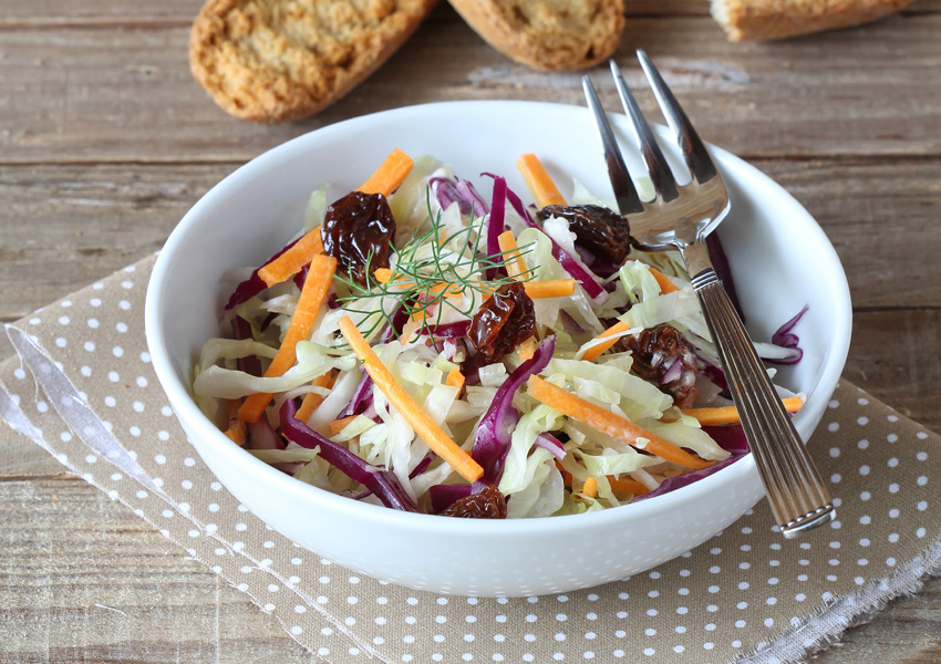 Red, White and Blueberry Coleslaw