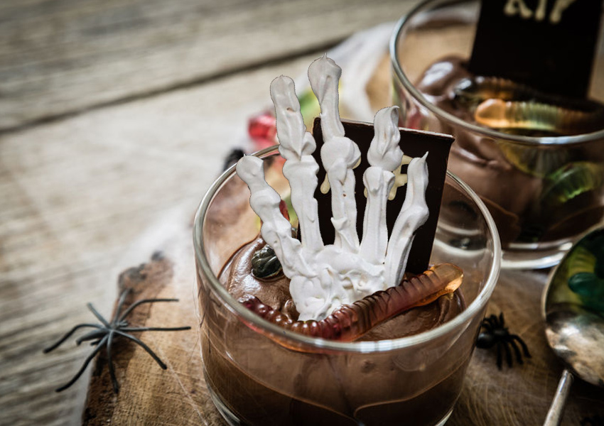 Skeleton Hand Pudding