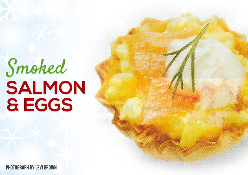 Smoked Salmon and Eggs Phyllo Shells
