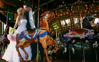 St. Louis Carousel at Faust Park Wedding